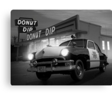 Cops Shoot Unarmed Donut Canvas Print