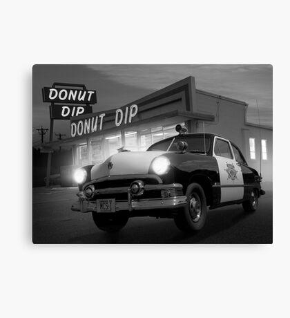 Cops Shoot Unarmed Donut Canvas Print