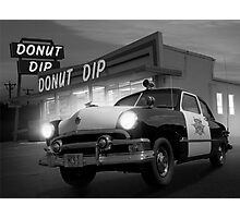 Cops Shoot Unarmed Donut Photographic Print