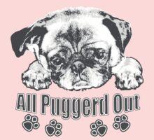 Puggerd out pug  Kids Tee