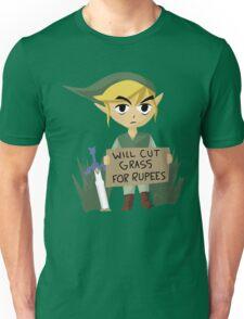 Legend of Zelda - Link - Cut Grass for Rupees Unisex T-Shirt