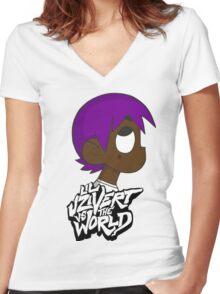 Lil Uzi Vert VS. World Women's Fitted V-Neck T-Shirt