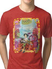 Buffalo Factory-Guitar Girl Tri-blend T-Shirt