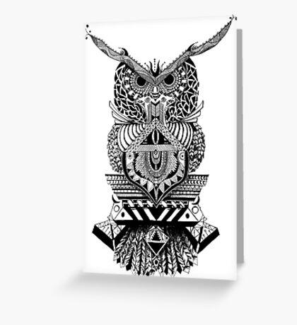 Búho Azura Greeting Card