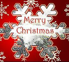 Christmas Greeting Card - Snowflake Merry Christmas by MotherNature