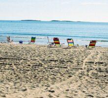 Empty Beach Chairs Sticker