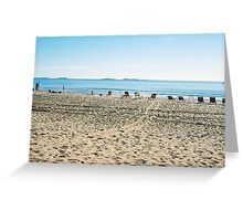 Empty Beach Chairs Greeting Card