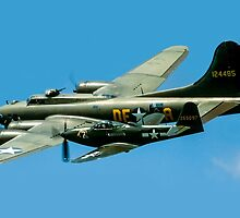 P-63A Kingcobra with B-17G Fortress II by Colin Smedley