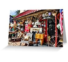 New Hope PA Antique Shop Greeting Card