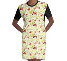 lily yellow Graphic T-Shirt Dress