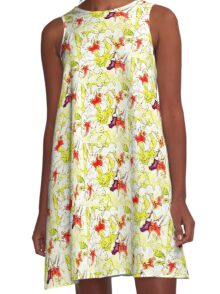 lily yellow A-Line Dress