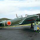 Kawasaki Ki 100-1b white 24 by Colin Smedley