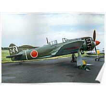 Kawasaki Ki 100-1b white 24 Poster