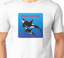 BORN TO BE FREE - HEART Unisex T-Shirt