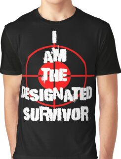 I am the Designated Survivor White Graphic T-Shirt