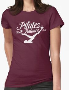 Pilates Balance Womens Fitted T-Shirt