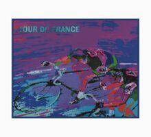 TOUR DE FRANCE; Abstract Bike Racing Print Kids Tee