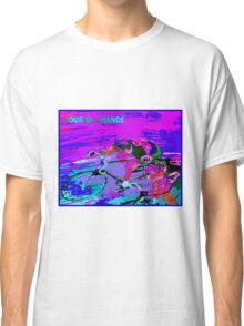 TOUR DE FRANCE; Abstract Bike Racing Print Classic T-Shirt