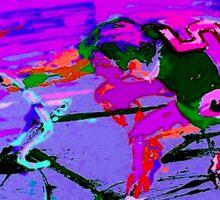 TOUR DE FRANCE; Abstract Bike Racing Print Sticker