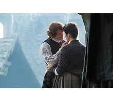 Jamie & Claire - a tender kiss Photographic Print