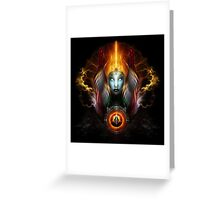 Riddian Queen Dynasty Of Power On Black Greeting Card