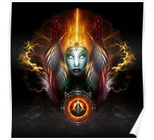 Riddian Queen Dynasty Of Power On Black Poster