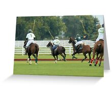 Polo Game Greeting Card