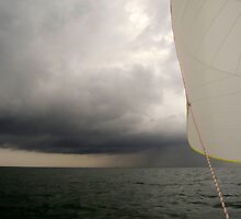 Sailing on the North Sea. by M. van Oostrum
