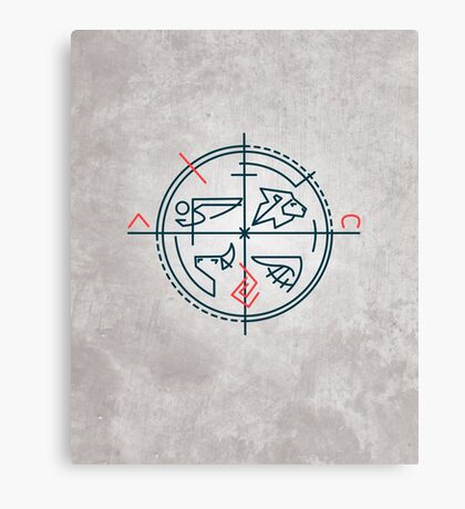 Abstract contemporary religious symbol Canvas Print