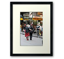 Saturday morning shoppers in Melbourne Framed Print