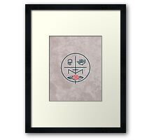 Abstract contemporary religious symbol Framed Print