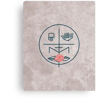 Abstract contemporary religious symbol Canvas Print