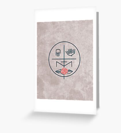 Abstract contemporary religious symbol Greeting Card