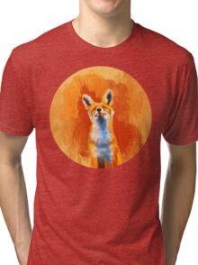 Happy Fox Tri-blend T-Shirt