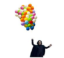 snape with balloons by sherlokian