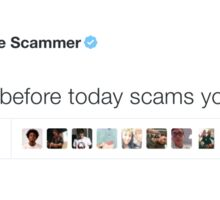 Scam Today Before Today Scams You Sticker