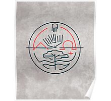 Abstract contemporary religious symbol Poster