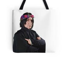 snape with flower crown Tote Bag