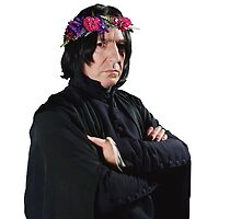 snape with flower crown by sherlokian