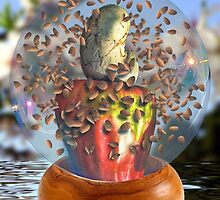 Almonds Hazing the Cashew Apple Snowglobe by GolemAura