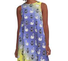"Captain Swan: ""Lieutenant Duckling"" pattern A-Line Dress"