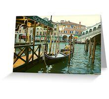 Gondola by the Rialto Bridge Greeting Card