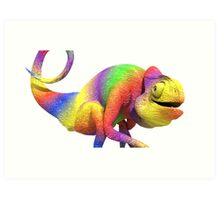 the chameleon Art Print