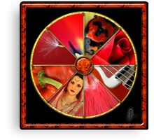 Red Colour Wheel Canvas Print