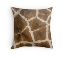 Giraffe Skin Closeup Throw Pillow