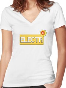 Electric type - PKMN Women's Fitted V-Neck T-Shirt