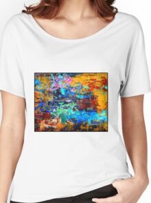 BICYCLES ABSTRACT; Whimsical Print Women's Relaxed Fit T-Shirt