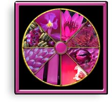 Magenta Colour Wheel Canvas Print