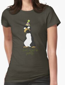 Party Penguin Womens Fitted T-Shirt