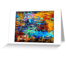 BICYCLES ABSTRACT; Whimsical Print Greeting Card